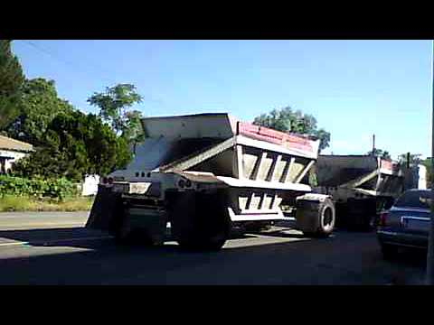Penske Near Me >> A Double Belly Dump Truck. - YouTube