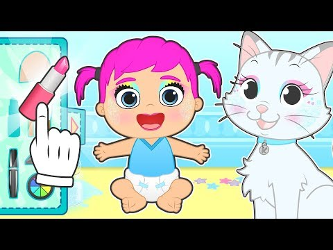 BABY LILY AND KIRA Make-up Session In Beauty Salon 💅 Cartoons For Kids