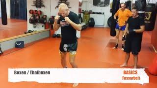 Boxen Thaiboxen Basics Fußarbeit Beinarbeit