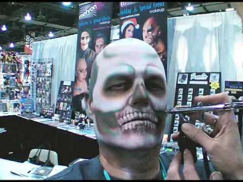 Creepy Skull Halloween Makeup Tutorial - YouTube
