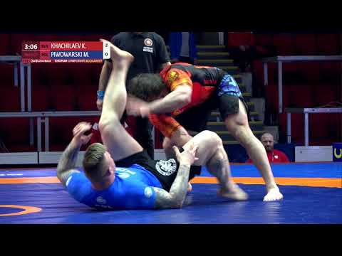 Qual. Men's GP No-Gi - +100 kg: K. KHACHILAEV (RUS) v. M. PIWOWARSKI (POL)