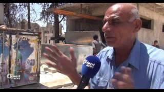 تضاعف أسعار الثلج بعد أرتفاع درجات الحرارة في غرب حلب