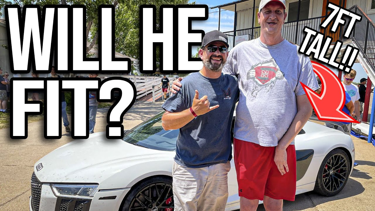 7FT TALL MAN in the R8? | Race Week Day 6