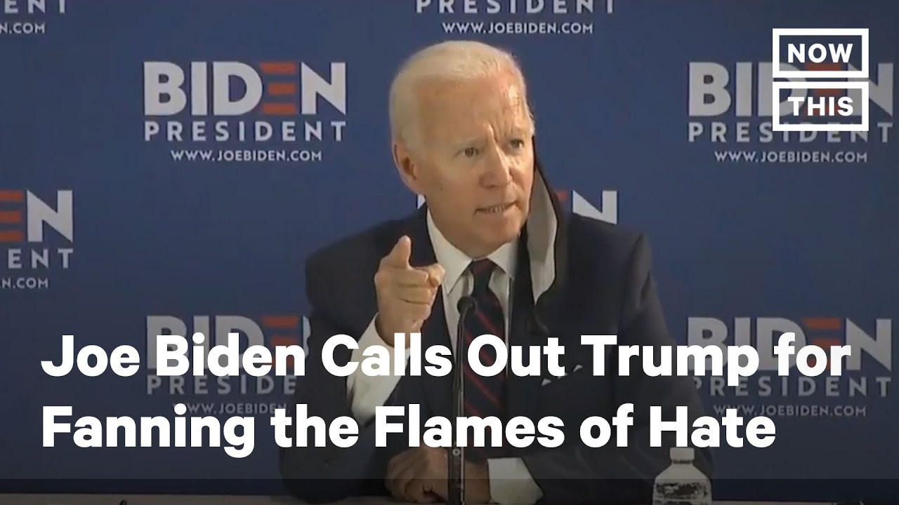 Biden Calls Out Trump for Fanning the Flames of Hate | NowThis News