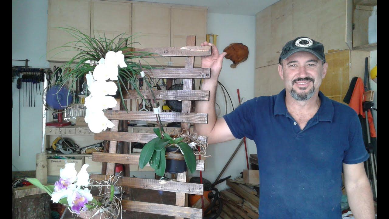 MARCENARIA CRIATIVA Floreira de Parede com madeira reciclada  Em  #264571 2560x1536
