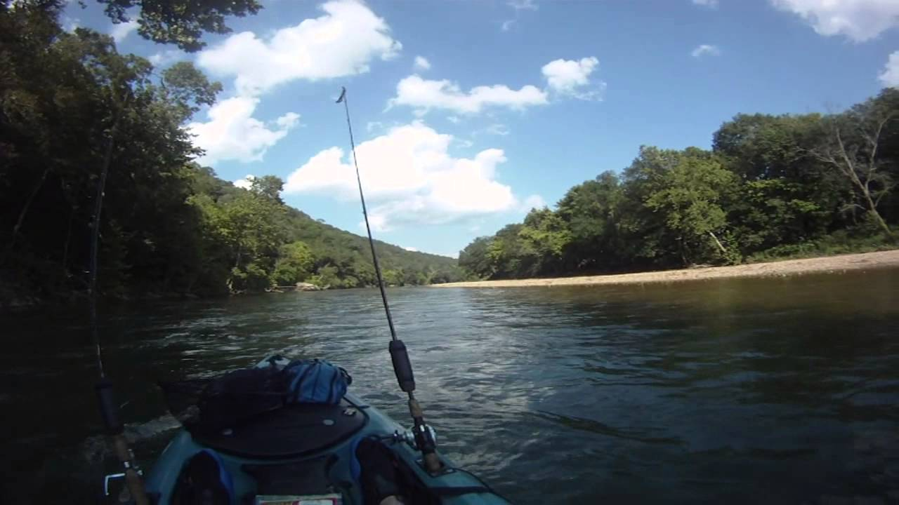 Kings river arkansas august kayak fishing trifecta youtube for Kings river fishing