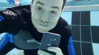 We went swimming with Samsung