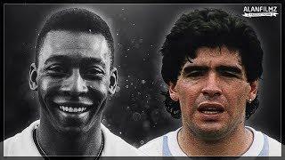 Pelé vs Maradona - Legendary Skills & Goals - HQ