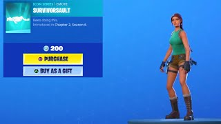 *NEW* SURVIVORSAULT Emote in SHOP!.. (APRIL 10) Fortnite Battle Royale