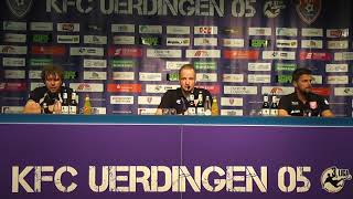 Uerdingerblock KFC Uerdingen - Hallescher FC Pressekonferenz
