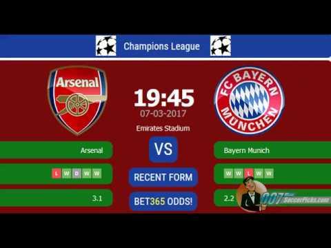 Arsenal Vs Bayern Munich Prediction Betting Tips