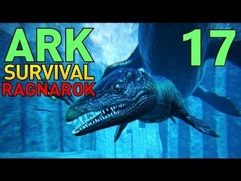 [17] Baby Mosasaur and Ocean Caves! (ARK Ragnarok Survival Multiplayer)
