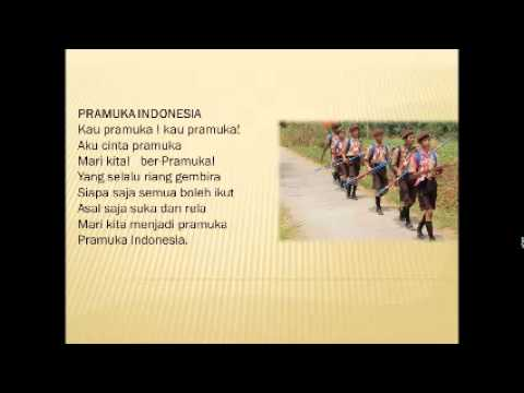LAGU PRAMUKA INDONESIA DENGAN LIRIK