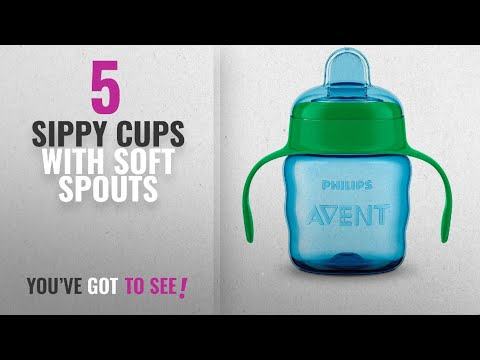 Top 10 Sippy Cups With Soft Spouts [2018]: Philips Avent Classic Soft Spout Cup, 200ml (Green/Blue)