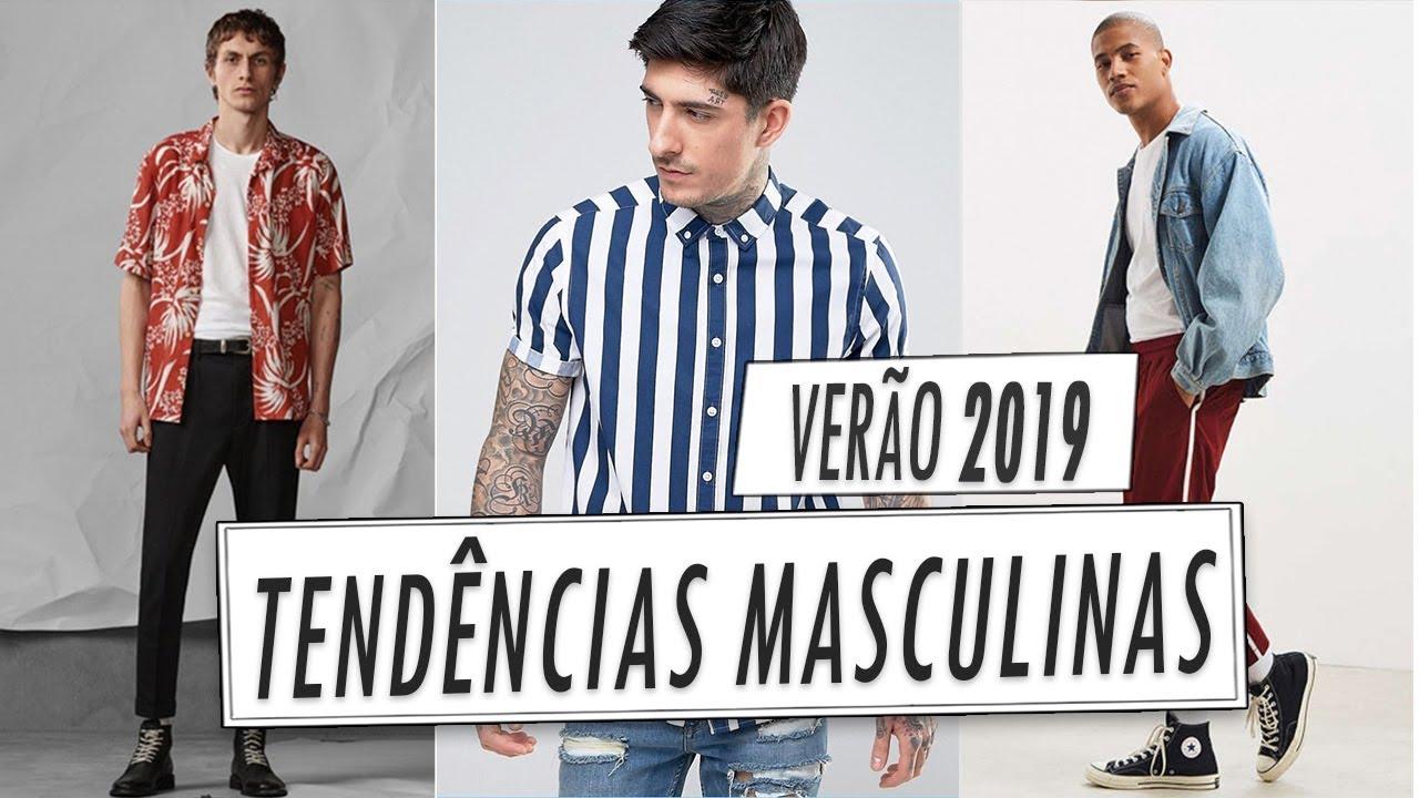 TENDÊNCIAS MASCULINAS PRIMAVERA e VERÃO 2019 na Moda