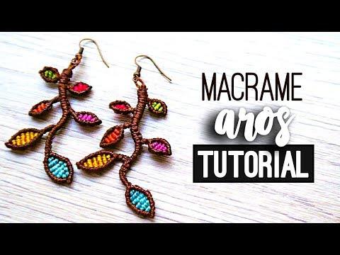 AROS DE MACRAME » 🍃 tutorial | como hacer | diy ● Earrings #109