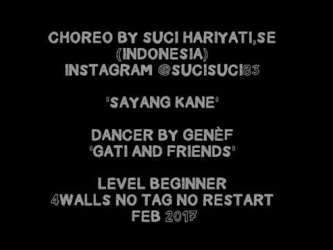 SAYANG KANE LINE DANCE BY GENÈF GATI AND FRIENDS