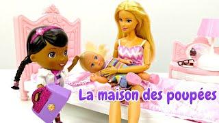 Vidéo en français pour les filles. Evi n'est pas sage. Barbie appelle le docteur