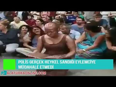 Polis Gercek Heykel Sandigi Eylemciye Mudahale Etmedi