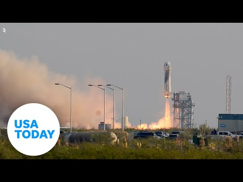 Blue Origin launches New Shepard rocket with Jeff Bezos onboard (LIVE)   USA TODAY