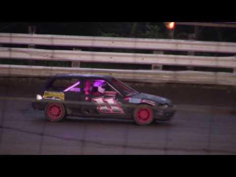 Hummingbird Speedway (7-15-17): Aaron's of DuBois Front-Wheel Drive Four-Cylinder Heat Race #2