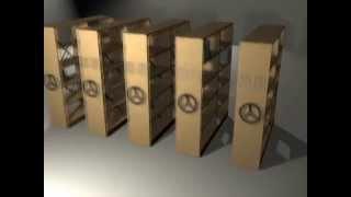 мобільні стелажі архівні виробництва ВАТ МПОВТ