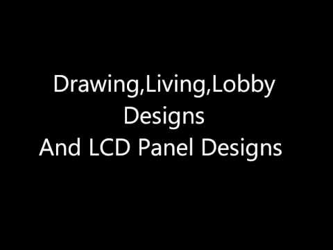 Drawing,Lobby,Living Room Designs And LCD Panel Designs