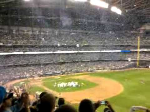 Brewers Win Game 5 of NLDS 2011 with celebration!