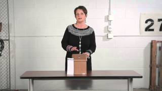 Safco Wood Locking Suggestion Box