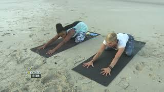 Sunrise Beach Yoga at Llandudno #1