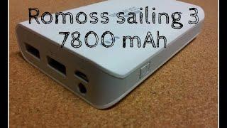 powerbank аккумулятор Romoss Sailing 3