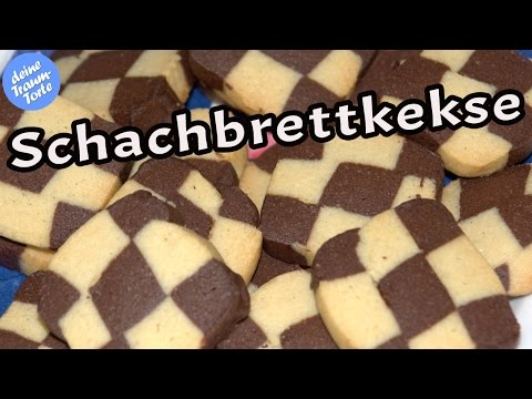 Plätzchen backen - Schachbrettkekse - Plätzchenrezepte - Kekse backen