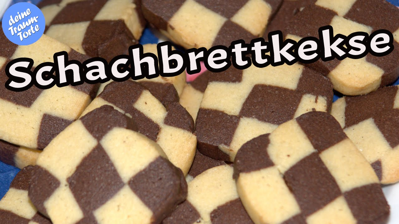 Platzchen Backen Schachbrettkekse Platzchenrezepte Kekse Backen Youtube