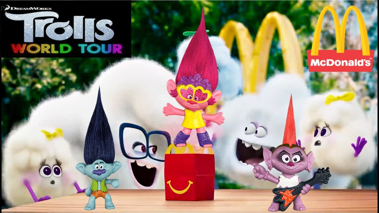 Mcdonalds Trolls World Tour Happy Meal Youtube