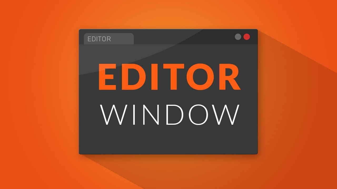 How to make an EDITOR WINDOW in Unity