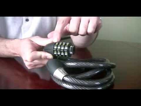 Bike Cable Lock >> OnGuard Lock Combination Tutorial - YouTube