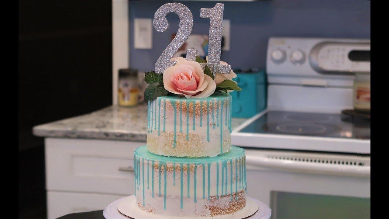 Make My 21st Birthday Cake With Me Frenchies Bakery Youtube