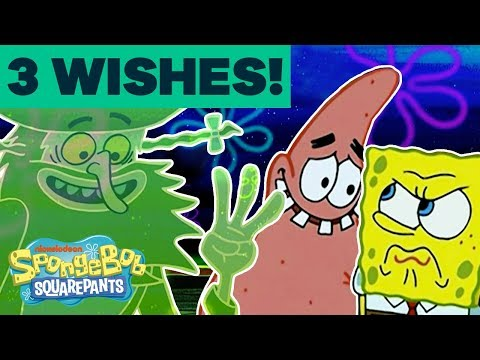 The Flying Dutchman Grants SpongeBob & Patrick 3 Wishes! | #TBT