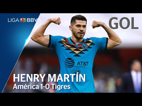 Gol de H. Martín | América 1 - 0 Tigres UANL | Liga BBVA MX - Clausura 2020  - Jornada 2
