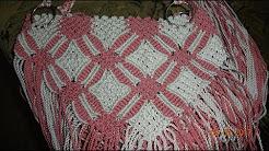 573b8b201e98b كيفية صنع حقيبة من المكرامي الجزء الثاني
