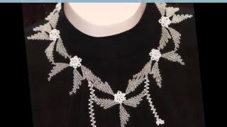 Свадебные украшения для невесты  из белого бисера