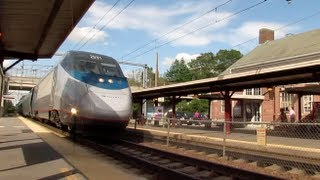 How close is to close? Acela Express 125+mph in Sharon MA