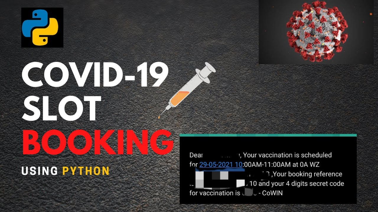 Python trick to track Covid 19 available slot|Book vaccination slot|Book Slot using python