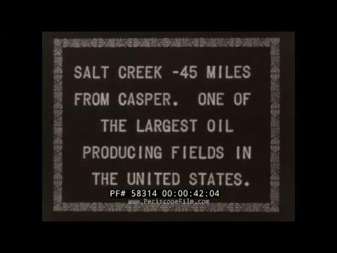 1920s CASPER WYOMING   SALT CREEK OIL FIELD   PETROLEUM PRODUCTION   NITROGLYCERIN FRACKING  58314