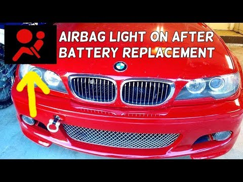 AIRBAG LIGHT ON AFTER DEAD BATTERY OR BATTERY REPLACEMENT - YouTube
