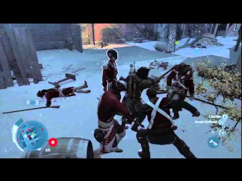 Assassin's Creed III - Boston 1770 Redcoat Masssacre Battle in Streets HD Gameplay PS3