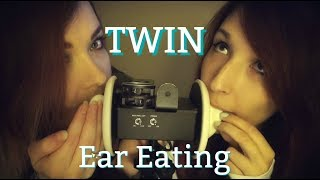 ☆★ASMR★☆ Indigo & Seafoam Eating Your Ears! Twin Tingles~