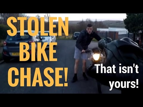 Biker Chases and Confronts Bike Thief!
