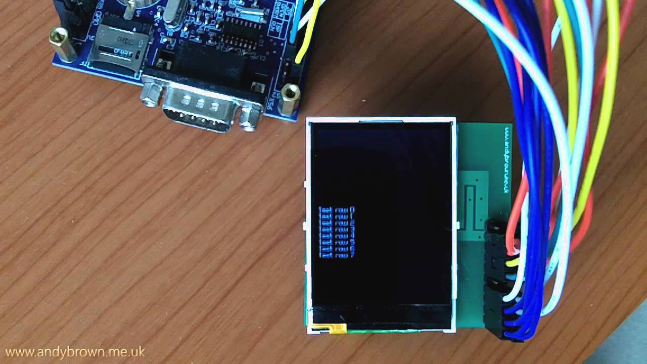 Nokia 2730, 5000, 2730, 5130, 5220, 7100 QVGA LCD Reverse Engineered and  running on STM32 by Andy Brown
