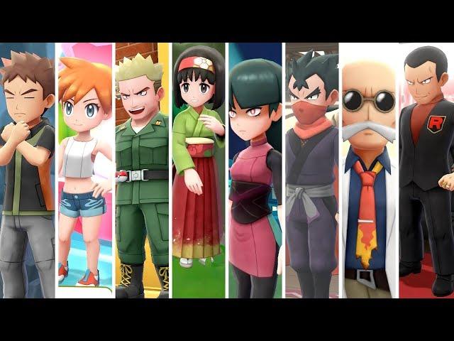 Pokemon Let's Go Pikachu & Eevee - All Gym Leader Battles